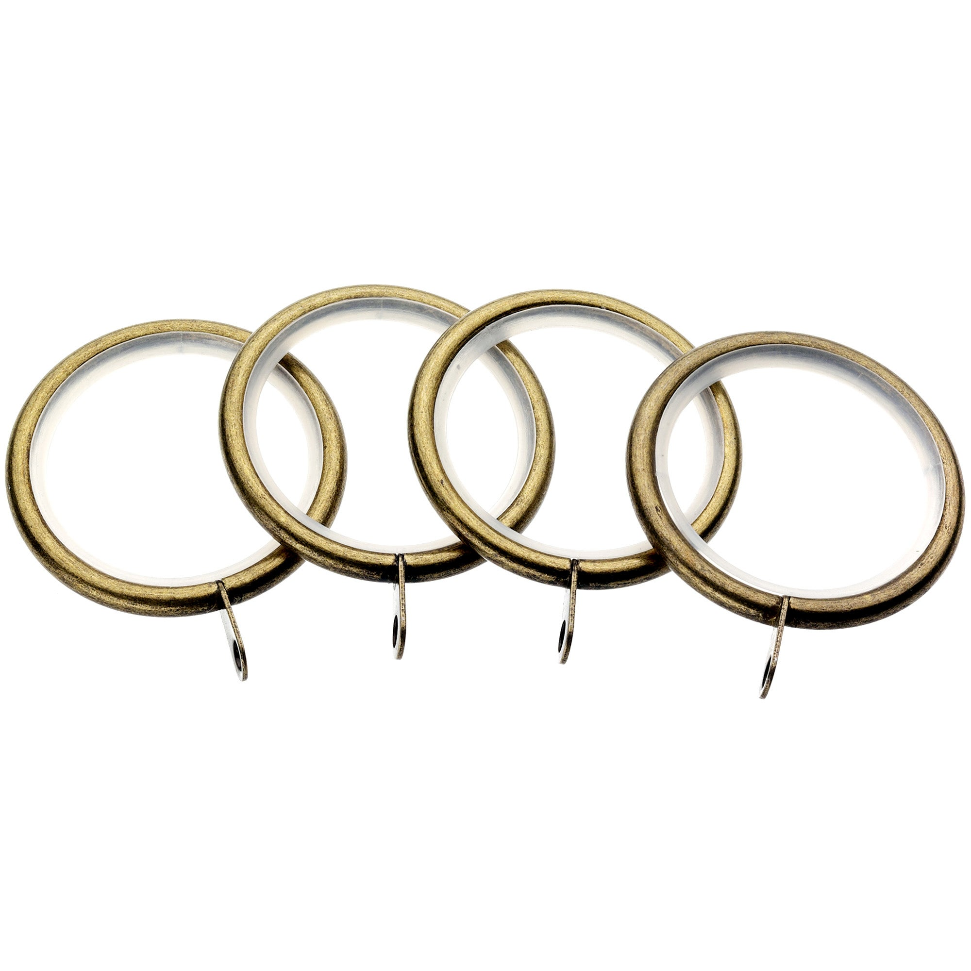 Antique Brass Hotel Mirage Collection Pack of 4 Curtain Rings