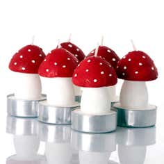 Crisp and Even Pack of 6 Toadstool Tealights