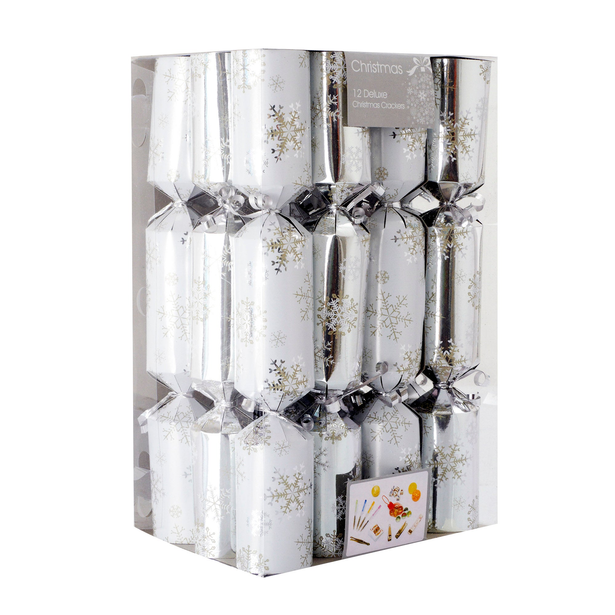 Winter Cottage Snowflake Family Crackers
