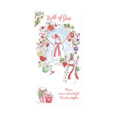 Both Of You Blush Christmas Card