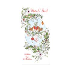 Blush Mum and Dad Christmas Card