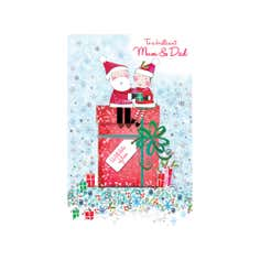 Daisy Patch Mum and Dad Christmas Card