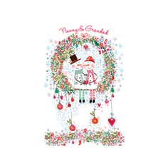 Daisy Patch Nanny and Grandad Christmas Card
