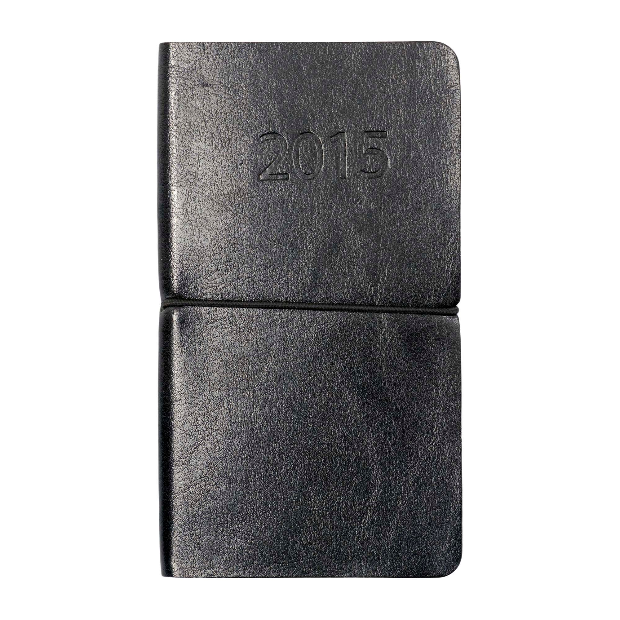 Black Flexi Cover 2015 Slim Diary