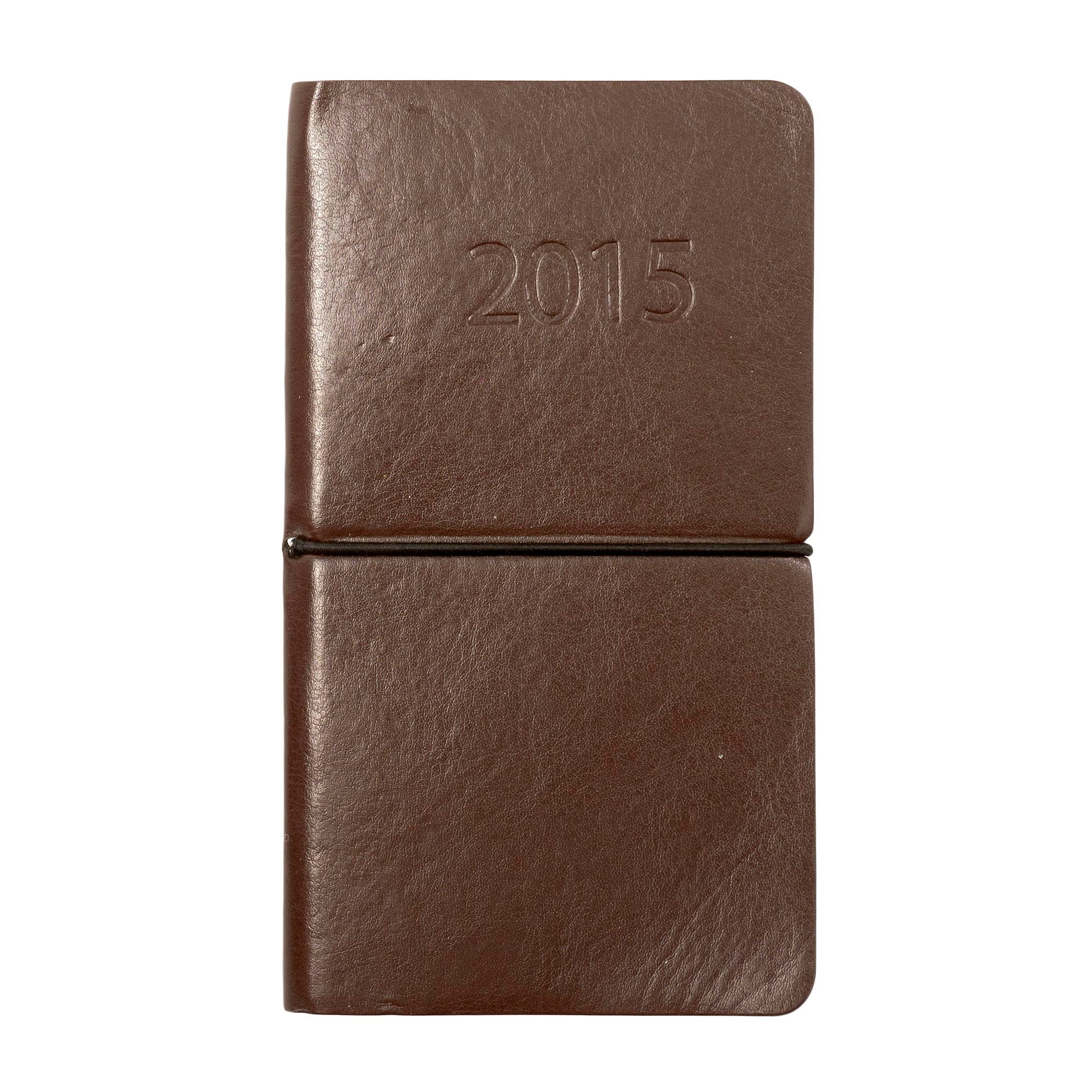 Brown Flexi Cover 2015 Slim Diary