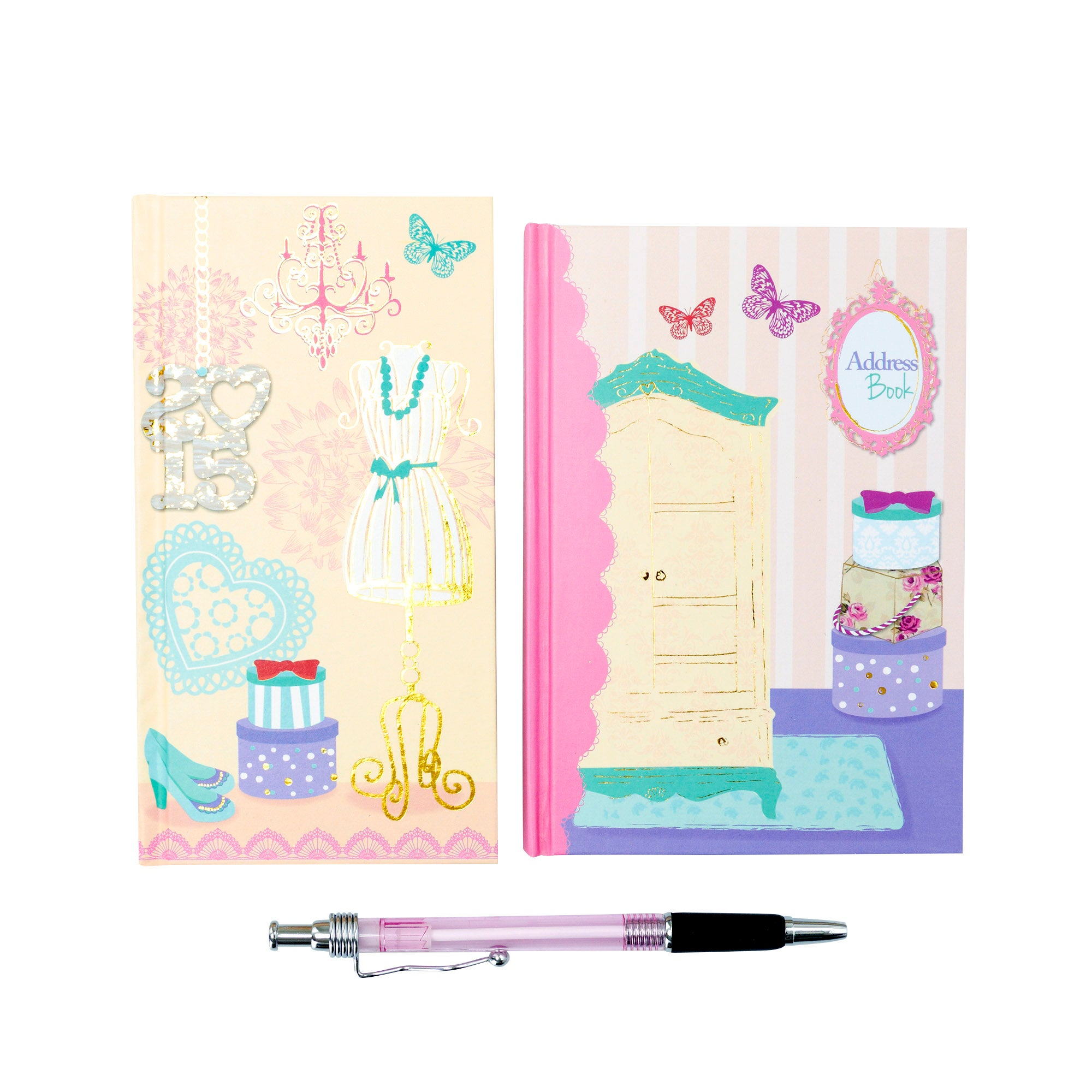 Vintage 2015 Diary and Address Book