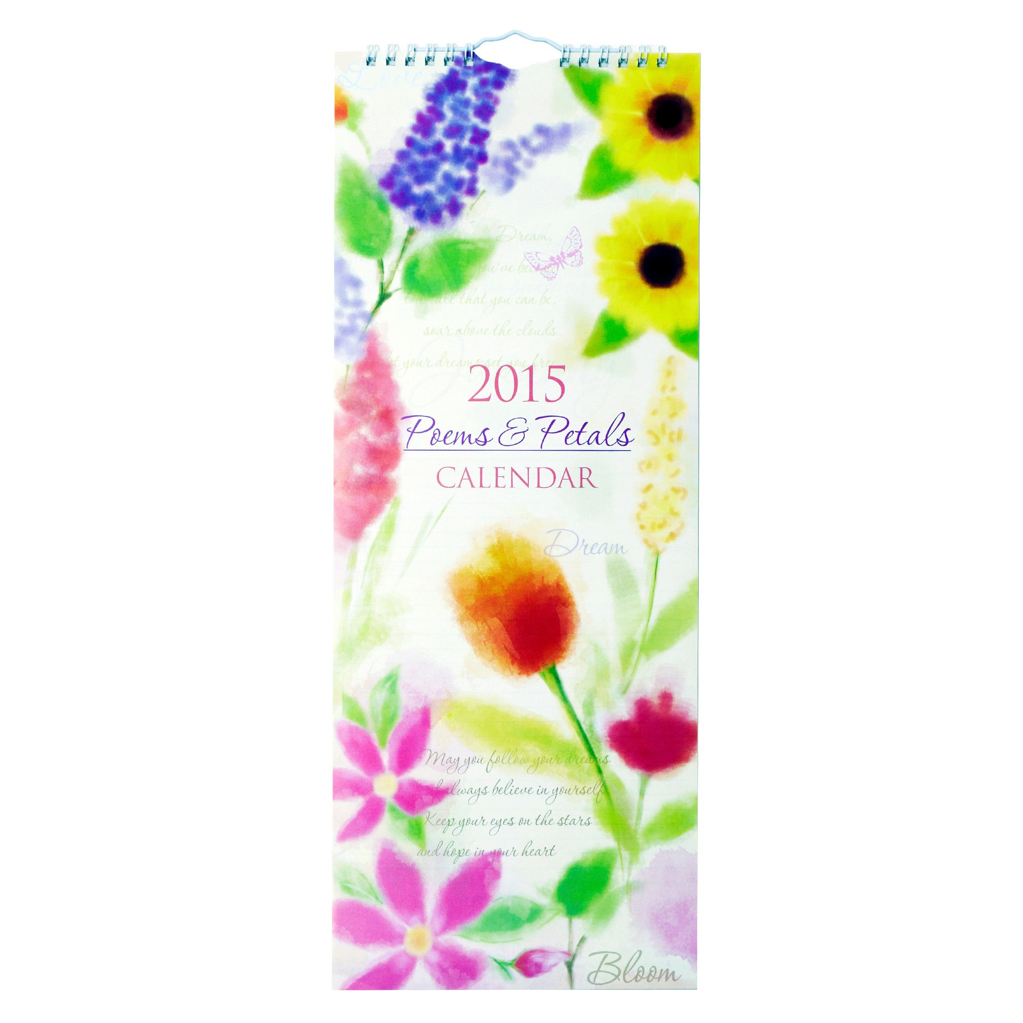 Poems and Petal Super Slim 2015 Calendar