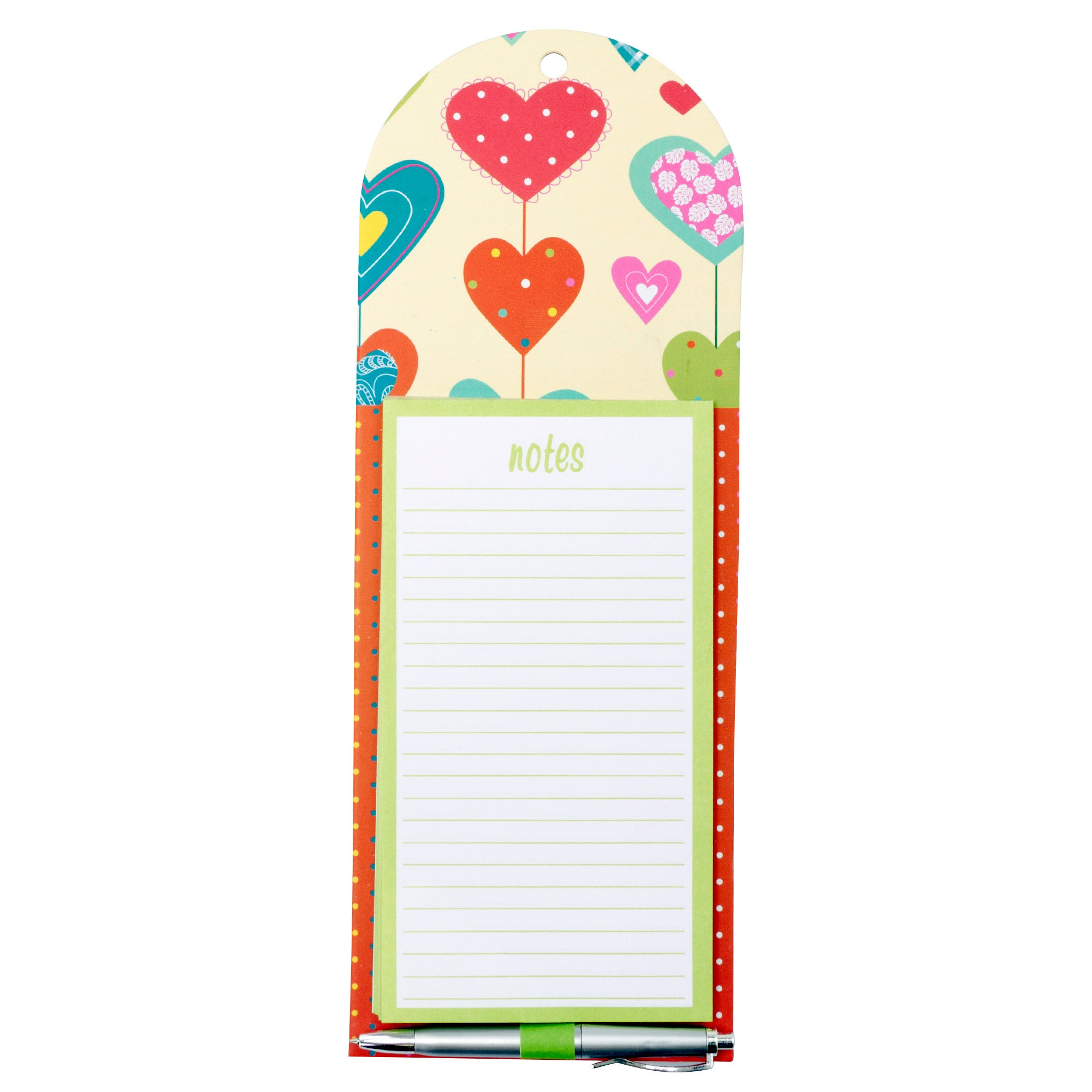 Hearts Magnetic Notepad