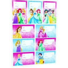 Disney Princess Pack of 18 Gift Labels