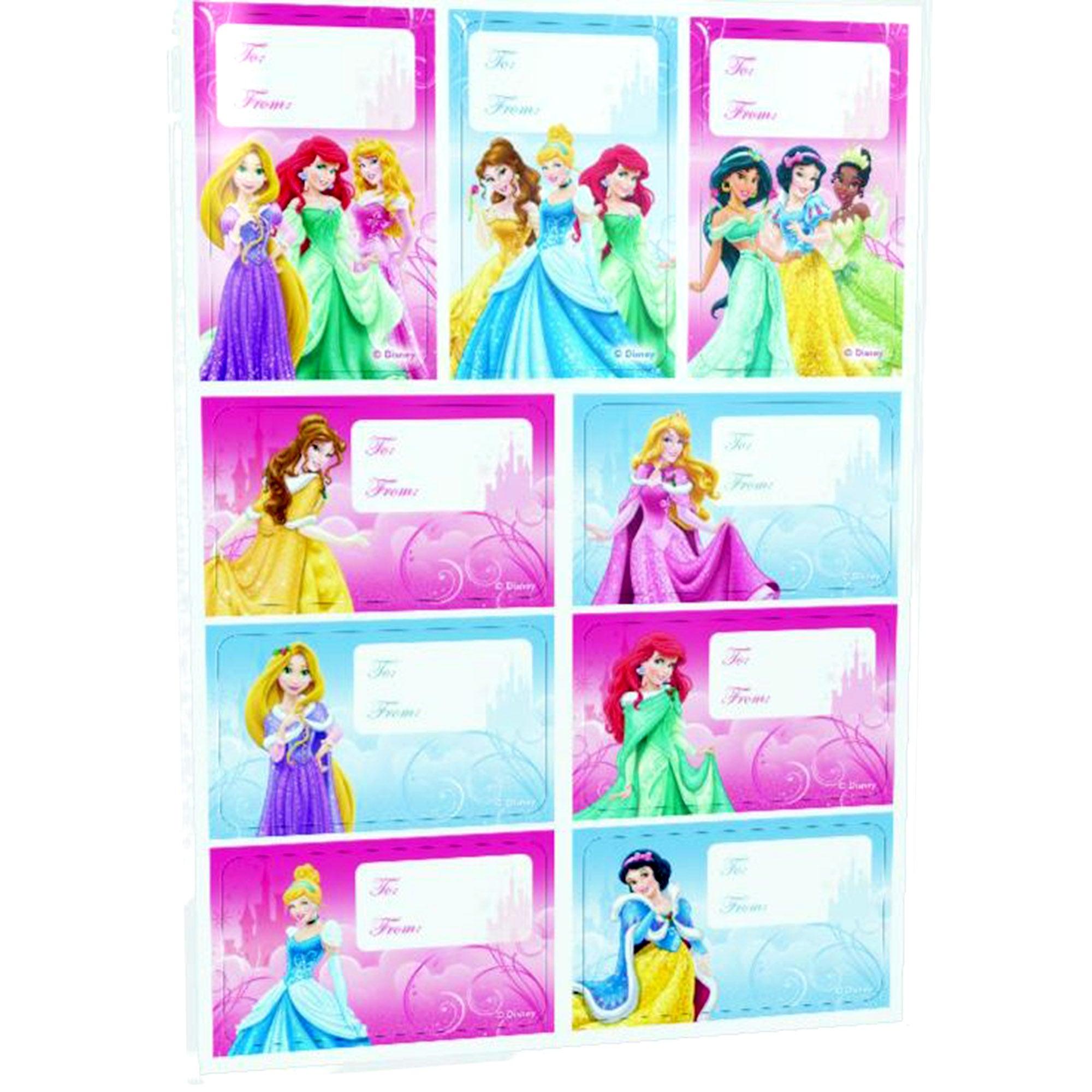 Disney Princess Pack of 18 Gift Labels