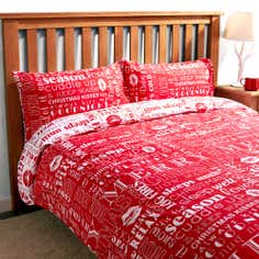 Red Crisp and Even Duvet Set
