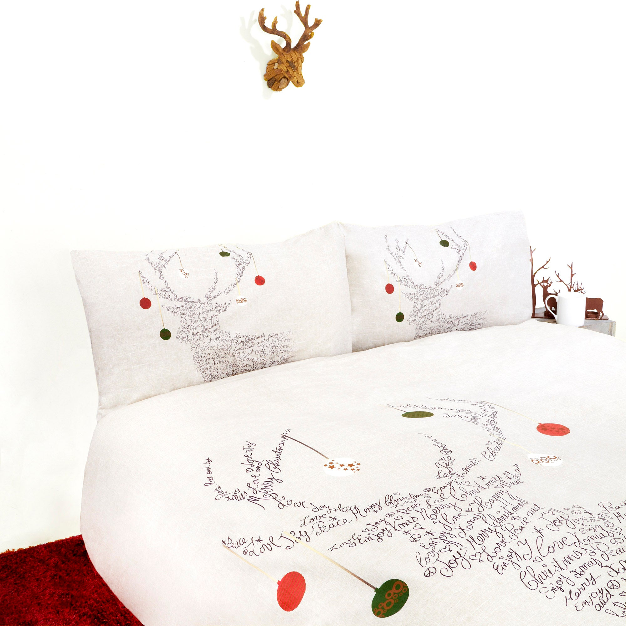 Natural Stag Head Duvet Cover Set