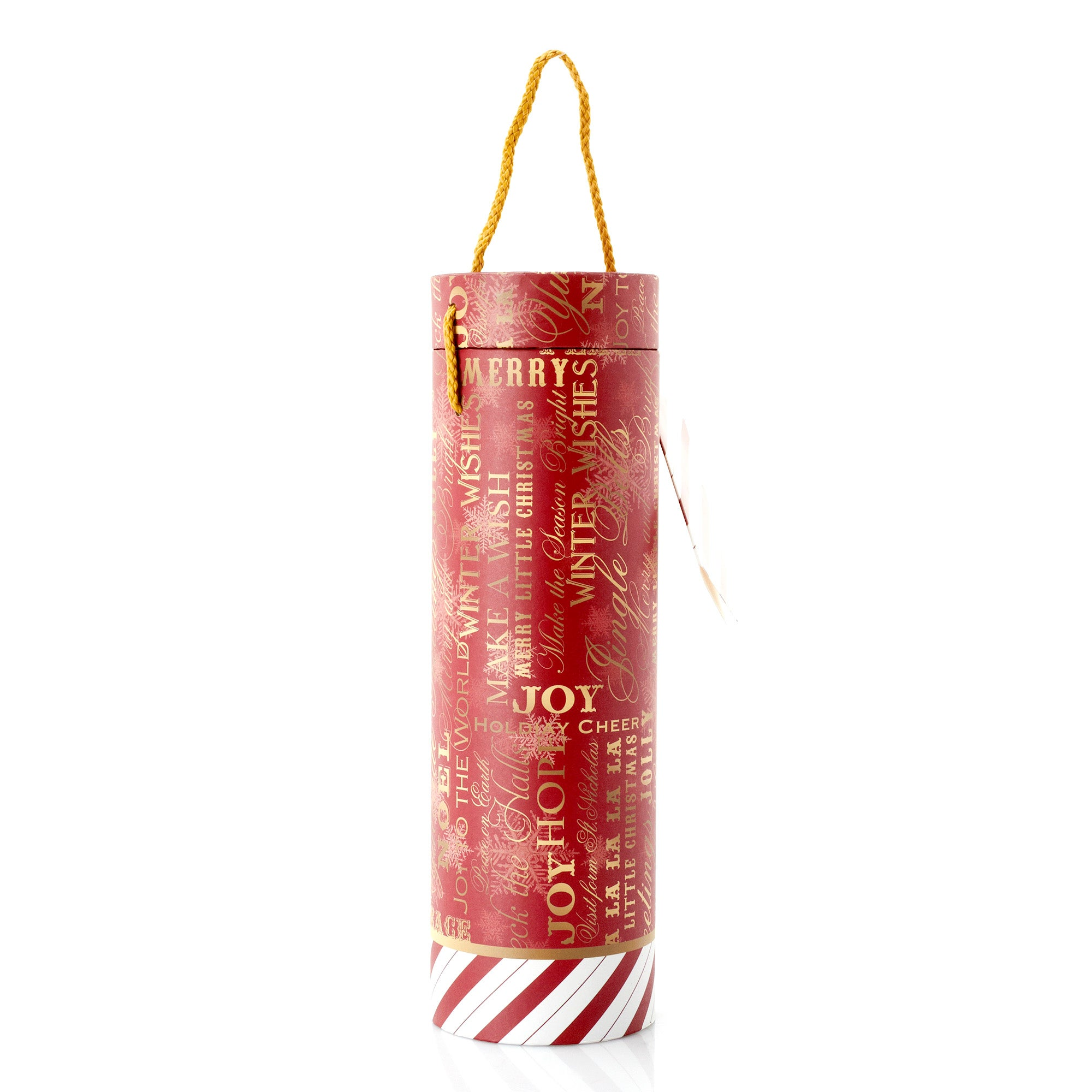 Red Typography Wine Tube