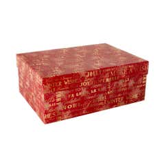 Red Typography Ornament Box