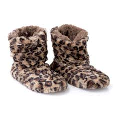 Leopard Boot Slippers