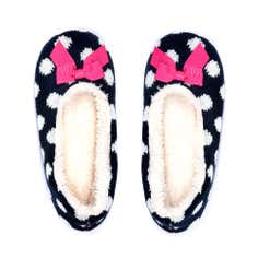 Navy Knitted Ballerina Slippers