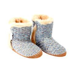 Duck Egg Knitted Boots