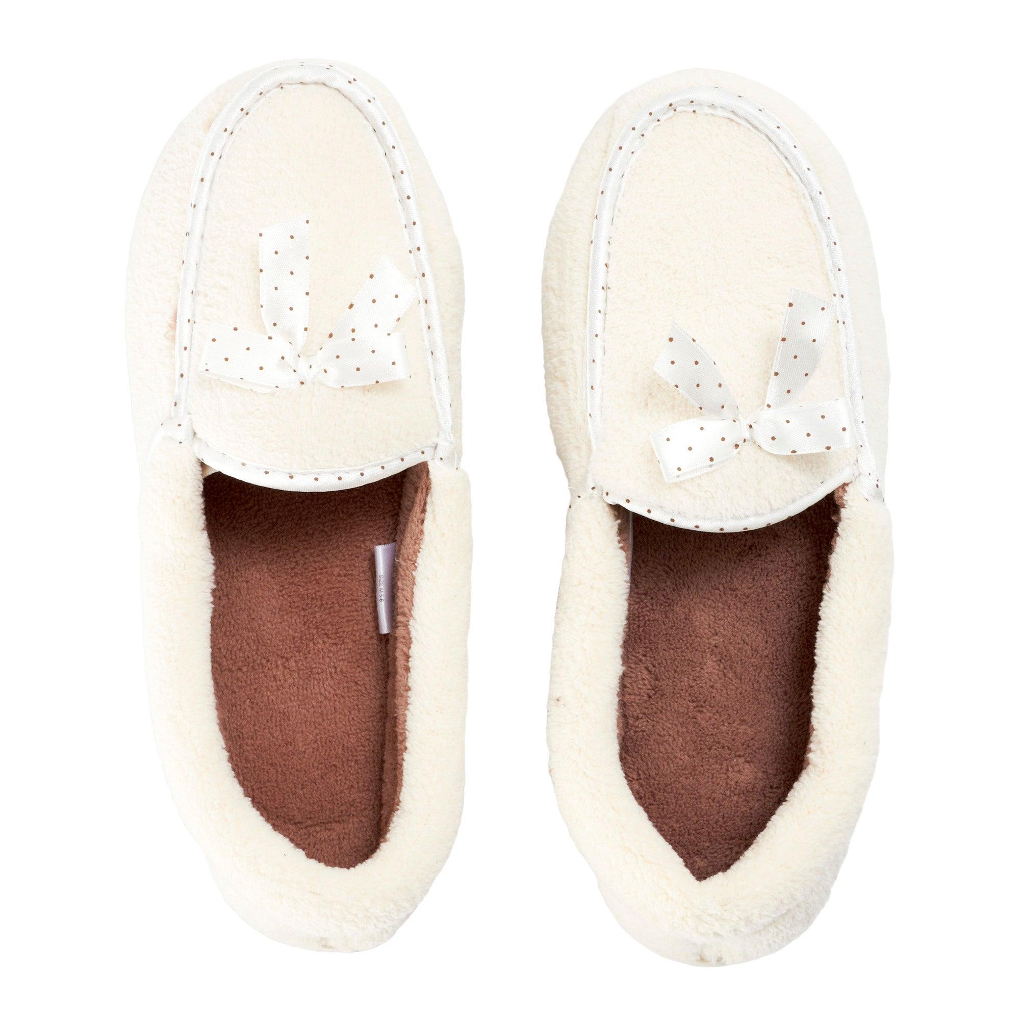 Cream Ladies Traditional Slippers