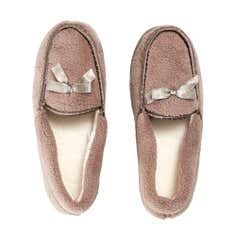 Mocha Ladies Traditional Slippers