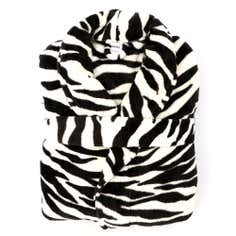 Ladies Zebra Print Bath Robe