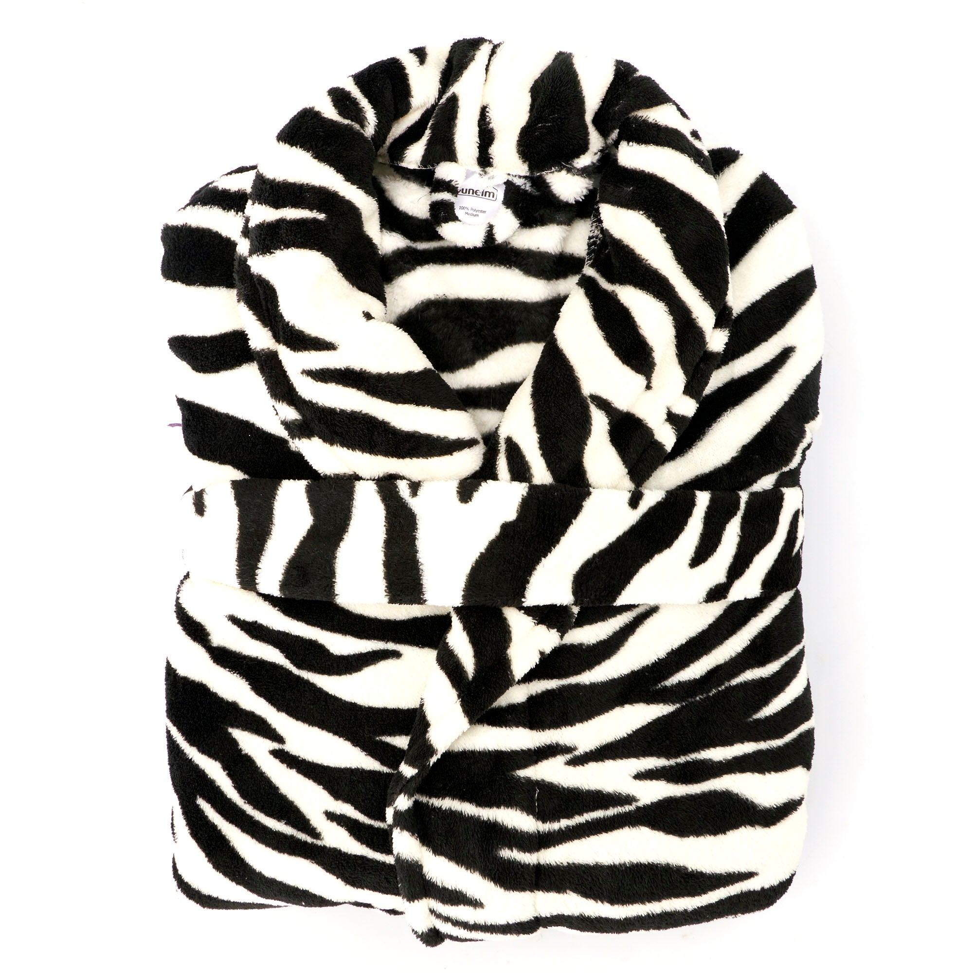 Ladies Zebra Print Bath Robe