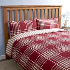 Brushed Cotton Check Quilt Set
