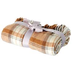 Wool Plaid Tweed Throw