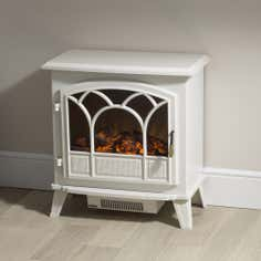 Large White Stove Effect Heater