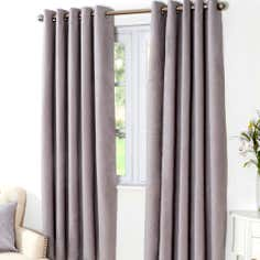 Grey Aspen Thermal Eyelet Curtains