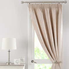 Cream Chenille Thermal Pencil Pleat Door Curtain
