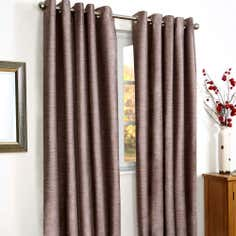 Aubergine Vancouver Thermal Coated Eyelet Curtains
