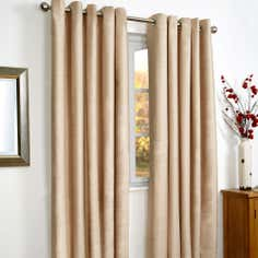 Natural Vancouver Thermal Coated Eyelet Curtains