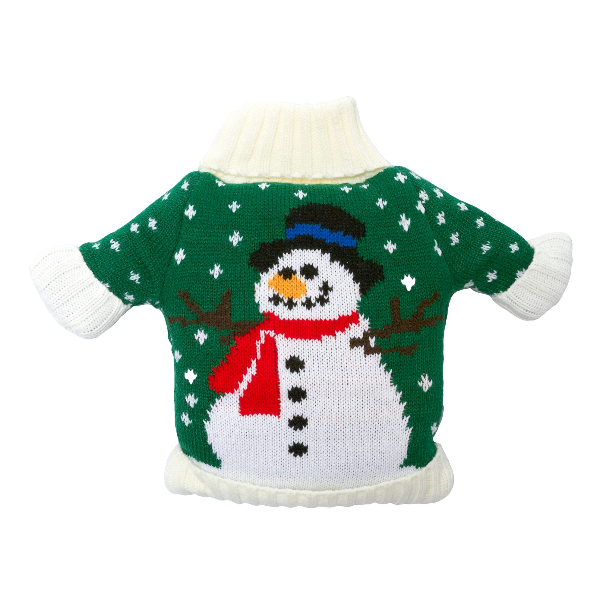 Green Snowman Jumper Microwavable Bean Bag