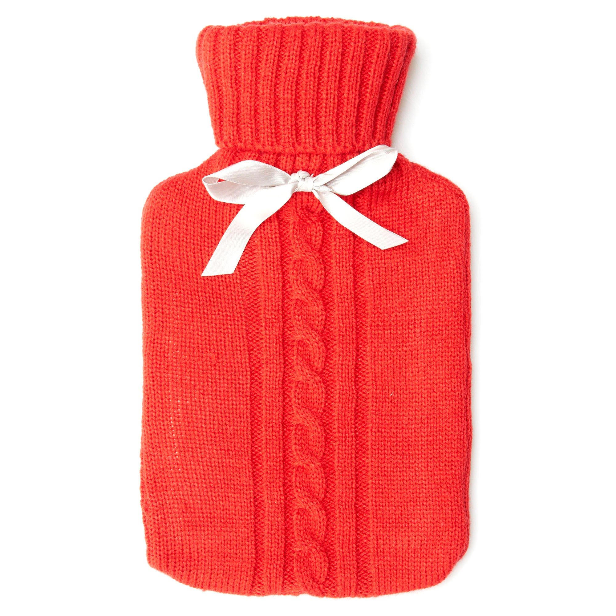 Hot Water Bottle With Ribbon