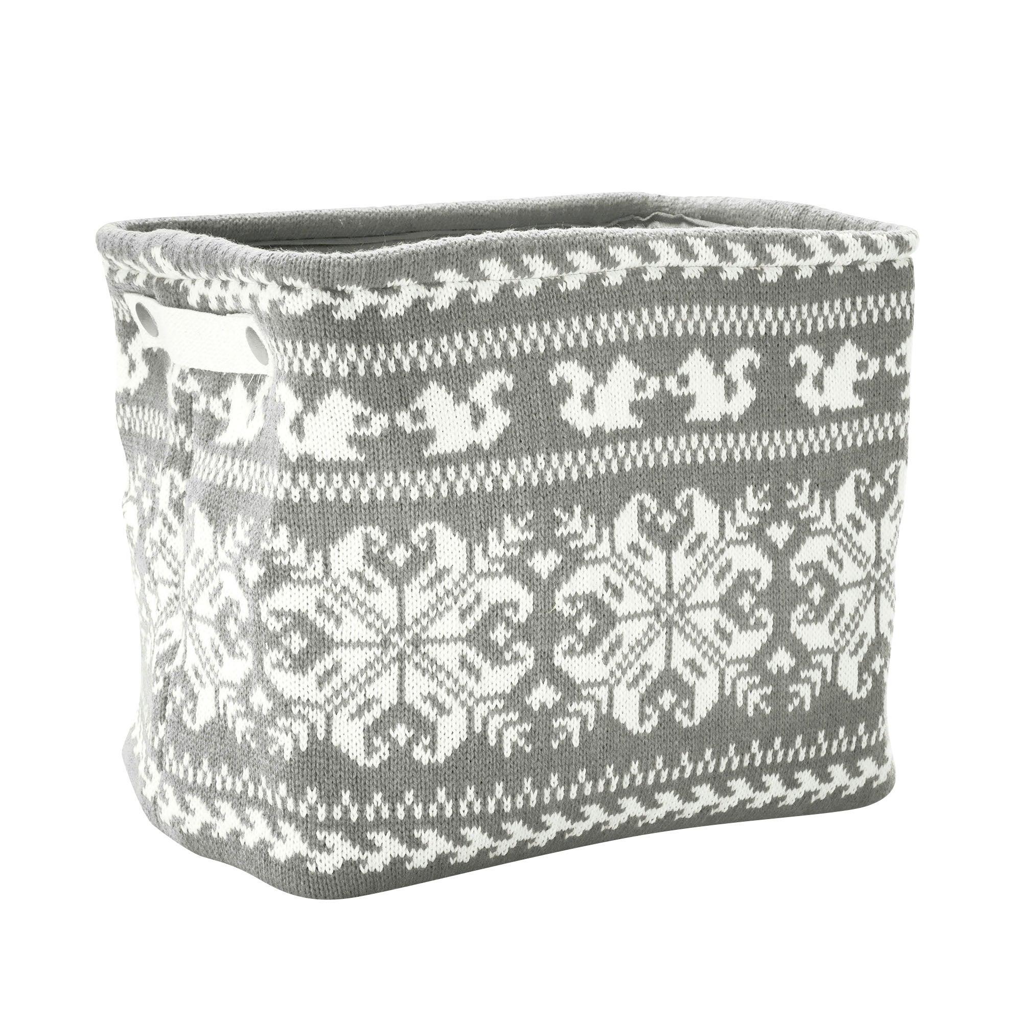 Large Knitted Rectangular Basket