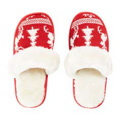Ladies Lazy Day Collection Christmas Knitted Slippers
