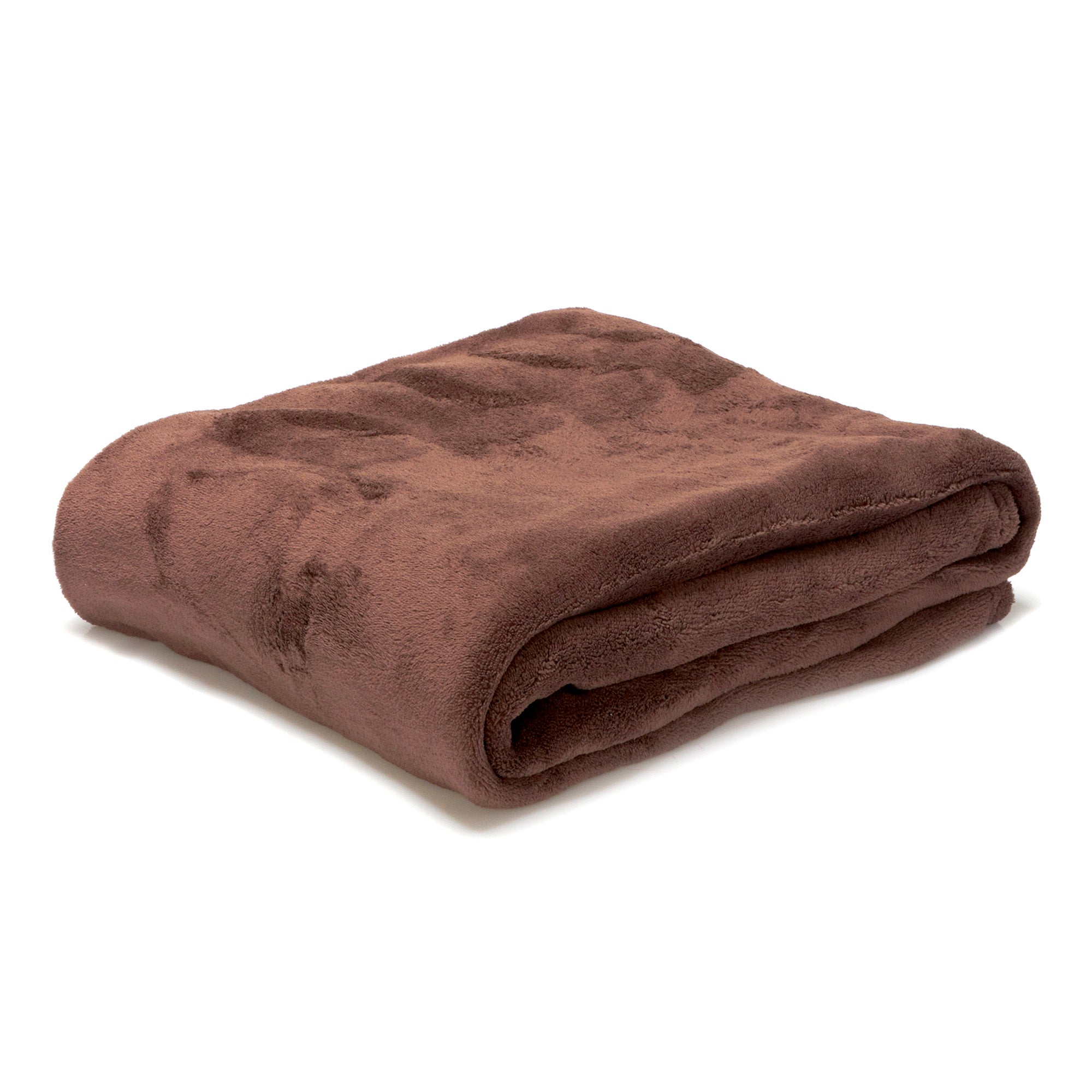 Plain Coral Fleece Throw