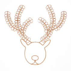 Festive Ramble Stag Metal Card Holder