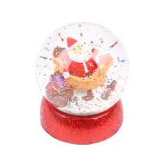 Merry and Bright Santa Snowglobe
