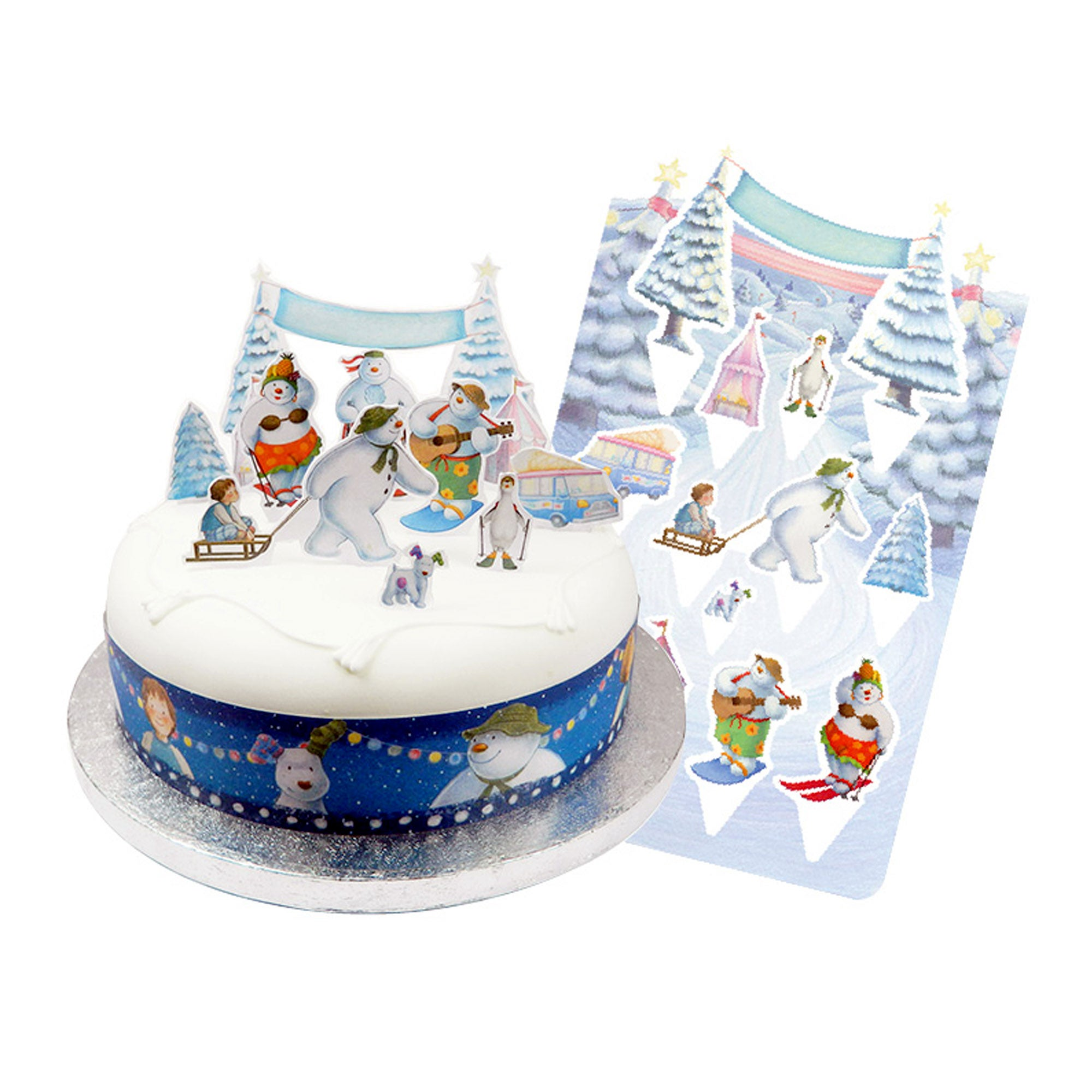 The Snowman and The Snowdog Cake Topper Kit