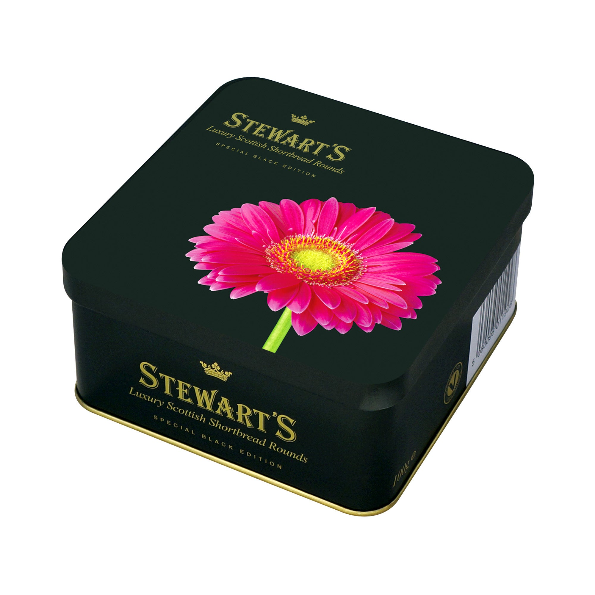 Stewart's Flower Gift Tin With Shortbread Rounds