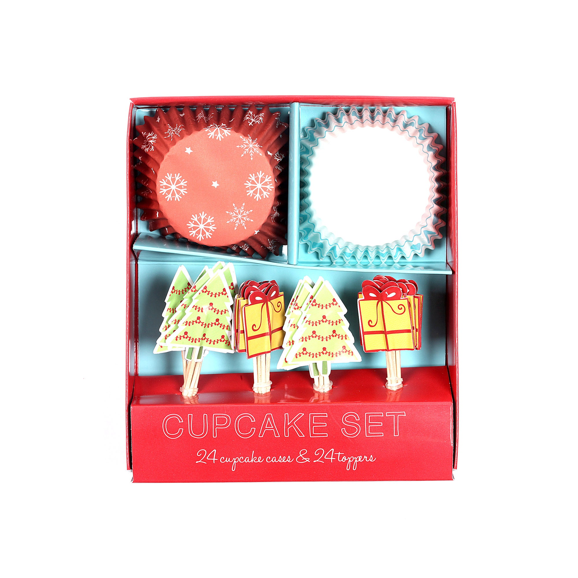 Be Merry Pack of Cupcake Cases and Toppers