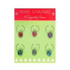 Pack of 6 Wine Glass Charms