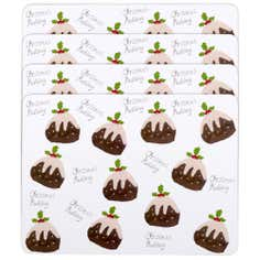Set of 4 Christmas Pudding Placemats