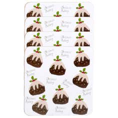 Set of 4 Christmas Pudding Coasters