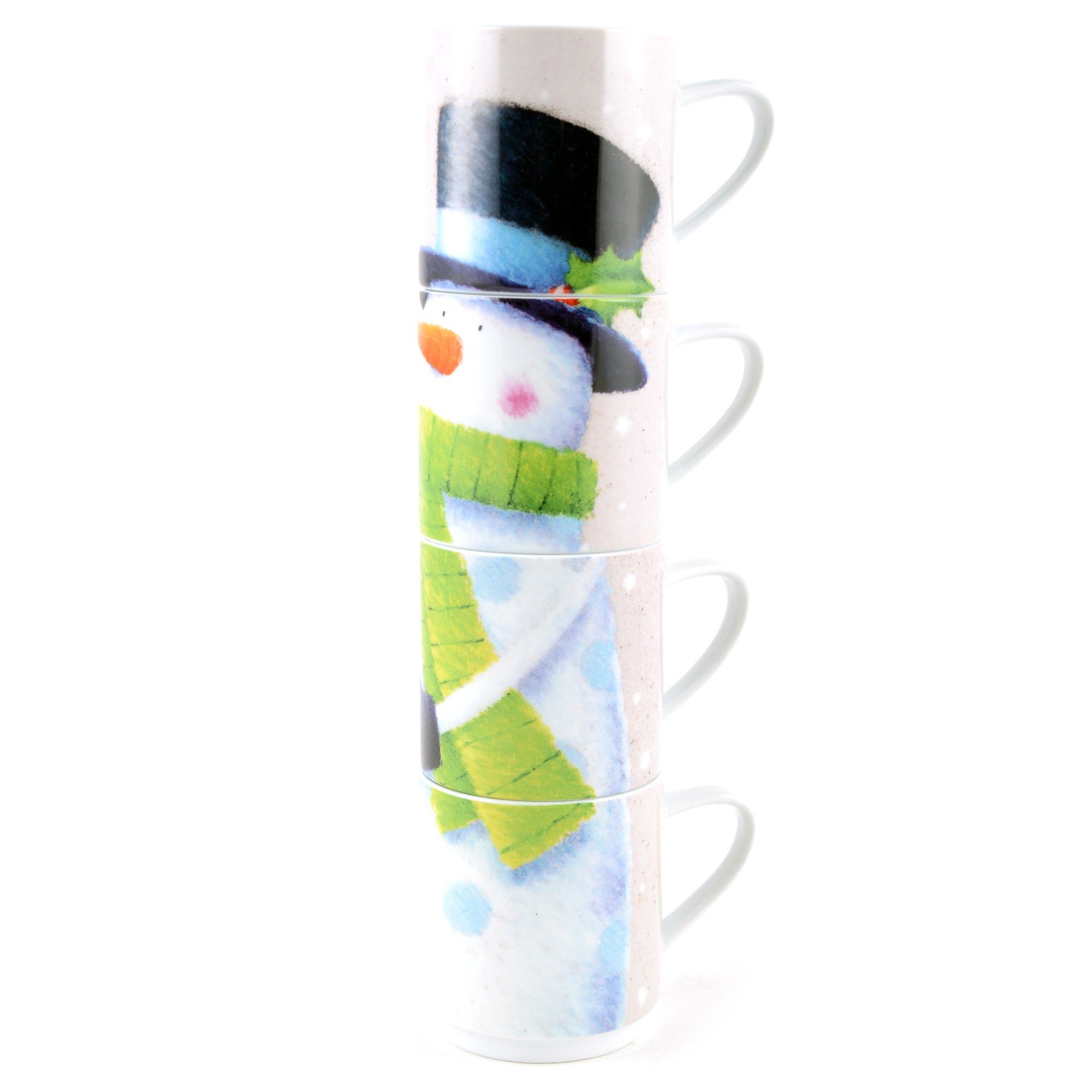 Snowman Stacking Mugs