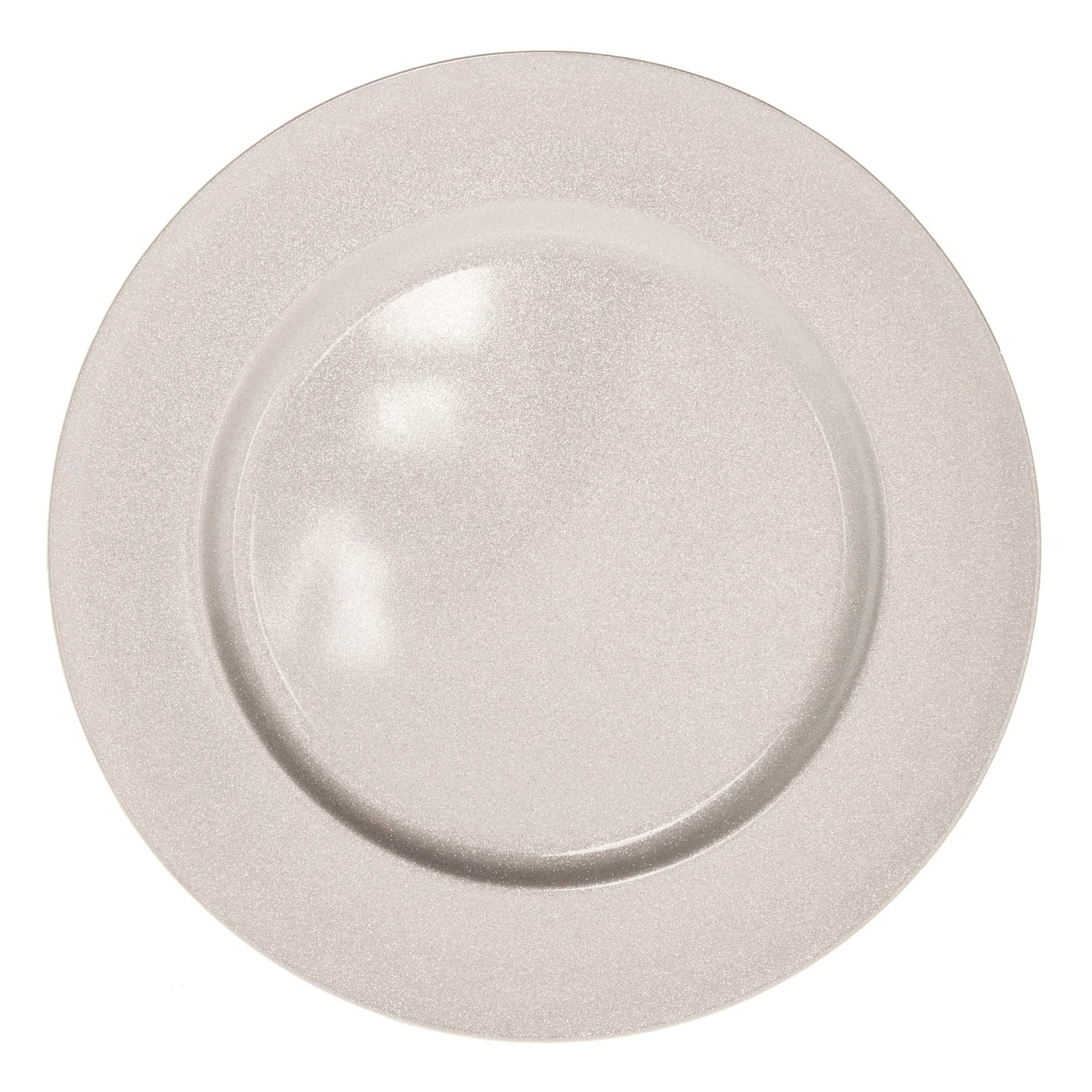 Glittered Round Charger Plate