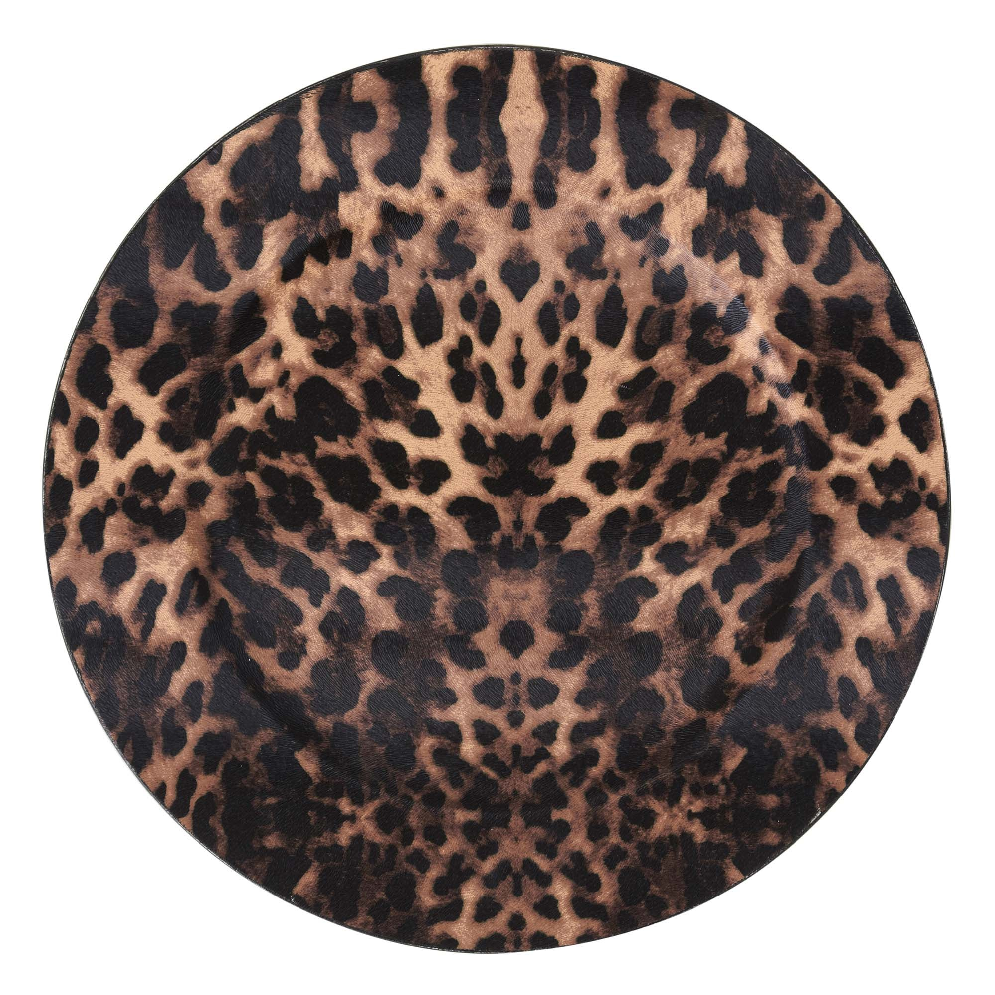 Leopard Print Charger Plate