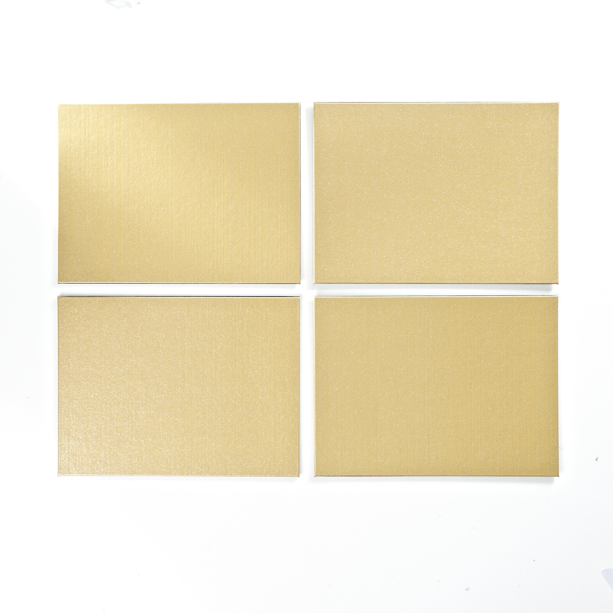 Set of Four Rectangle Glitter Placemats