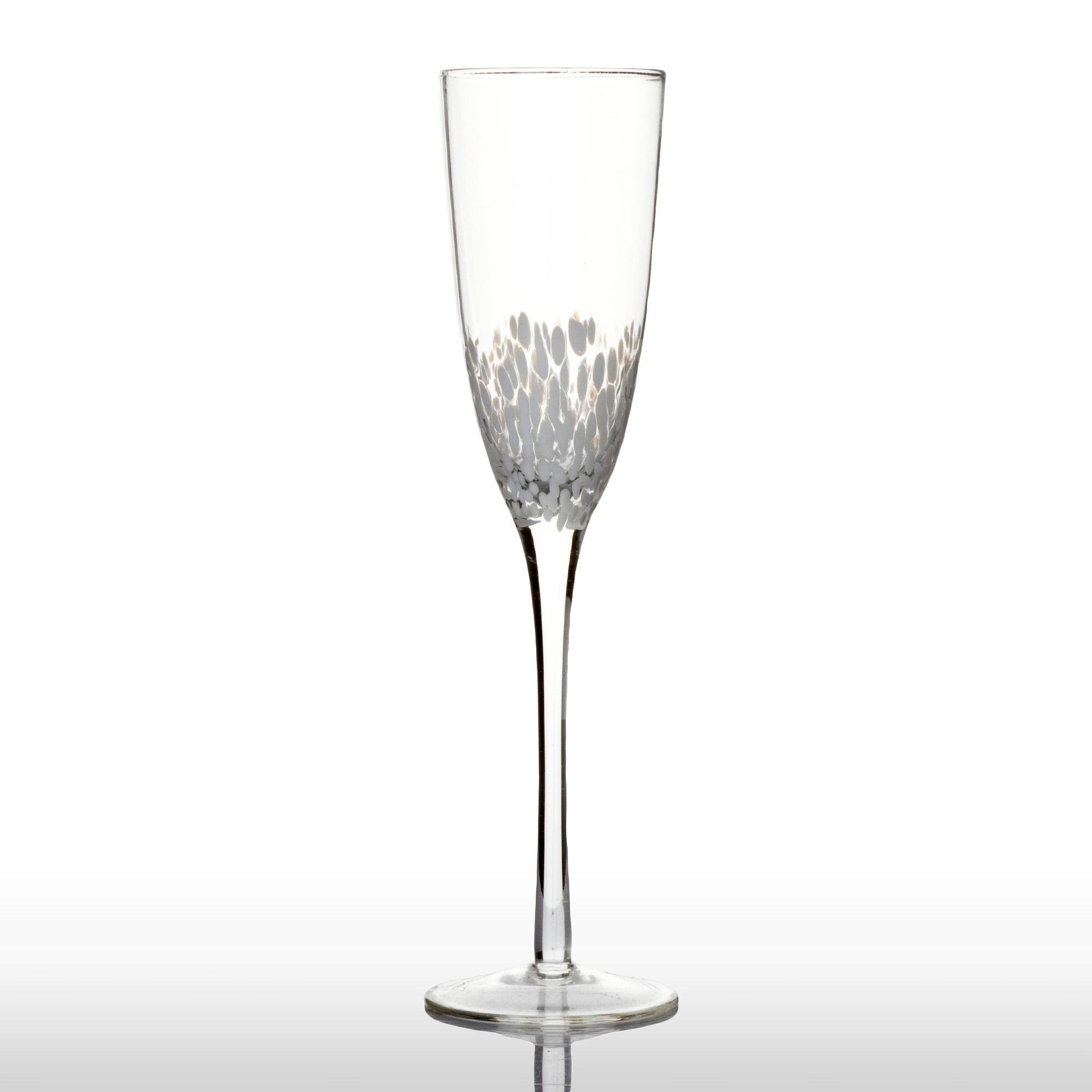 Set of 4 Bubble Flute Glasses